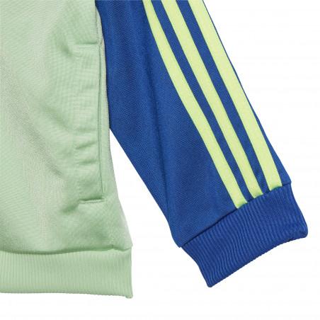 Ensemble survêtement enfant adidas vert bleu