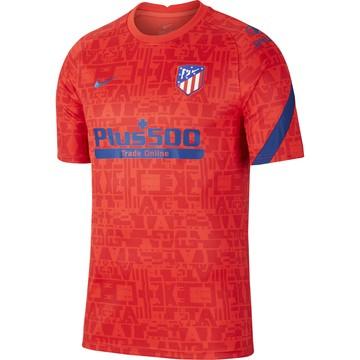 Maillot avant match Atlético Madrid rouge 2020/21