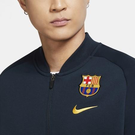 Veste survêtement FC Barcelone GFA Fleece bleu 2020/21