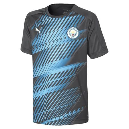 Maillot avant match junior Manchester City bleu gris 2019/20