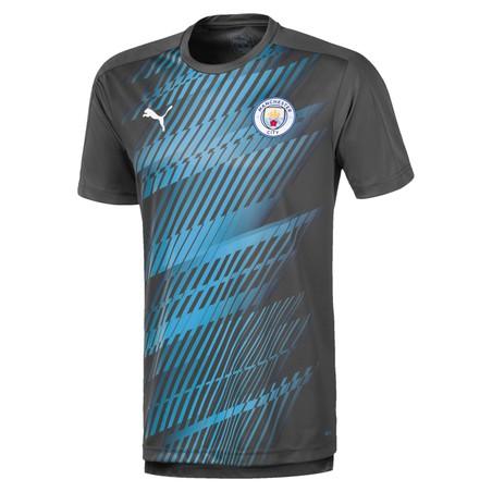 Maillot avant match Manchester City bleu gris 2019/20