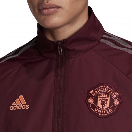 Veste survêtement Manchester United Anthem rouge 2020/21