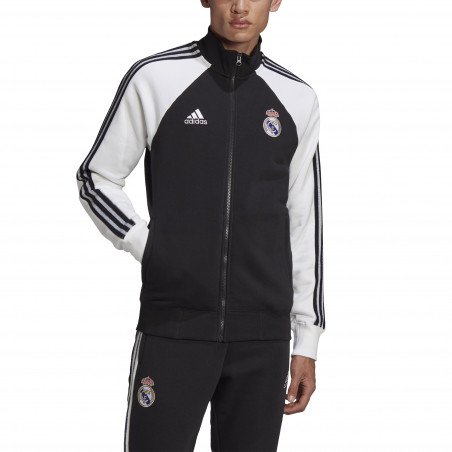 Veste survêtement Real Madrid Icon noir blanc 2020/21