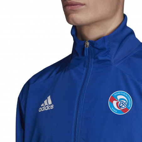 Veste survêtement RC Strasbourg bleu 2020/21