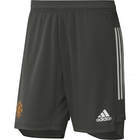 Short entraînement Manchester United vert orange 2020/21