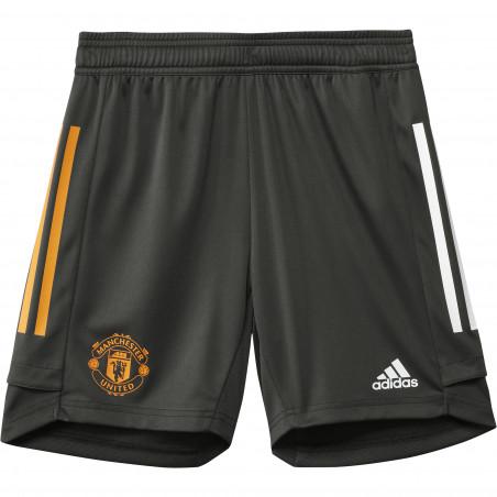 Short entraînement junior Manchester United vert orange 2020/21