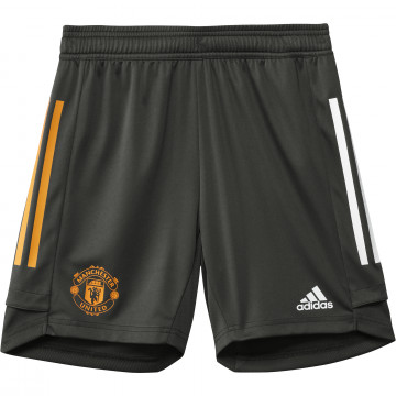 Short entraînement junior Manchester United vert orange 2020/21
