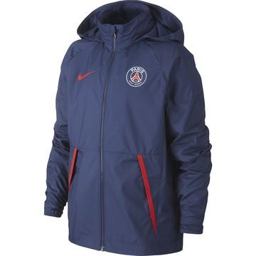 Veste imperméable junior PSG bleu rouge 2020/21
