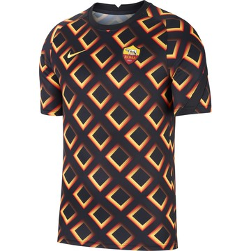 Maillot avant match AS Roma noir orange 2020/21