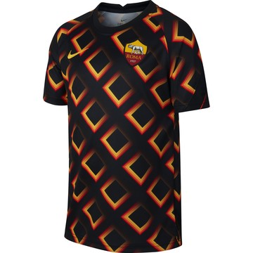 Maillot avant match junior AS Roma noir orange 2020/21