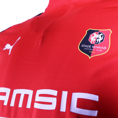 Sweat zippé Stade Rennais rouge 2020/21