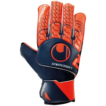 Gants Gardien junior Uhlsport Startersoft bleu orange