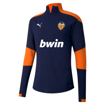 Sweat zippé Valence bleu orange 2020/21