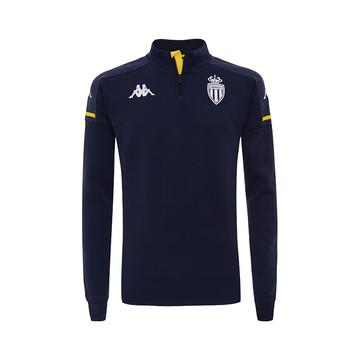 Sweat zippé AS Monaco bleu foncé 2020/21