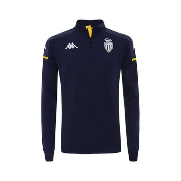 Sweat zippé junior AS Monaco bleu 2020/21