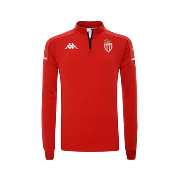Sweat zippé AS Monaco rouge 2020/21