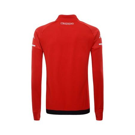 Sweat zippé AS Monaco rouge 2020/21