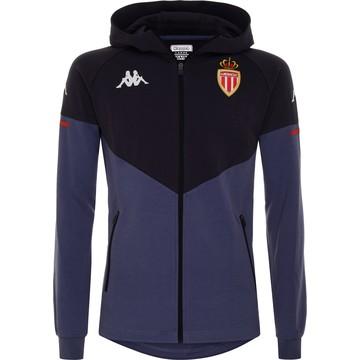 Veste à capuche AS Monaco noir bleu 2020/21