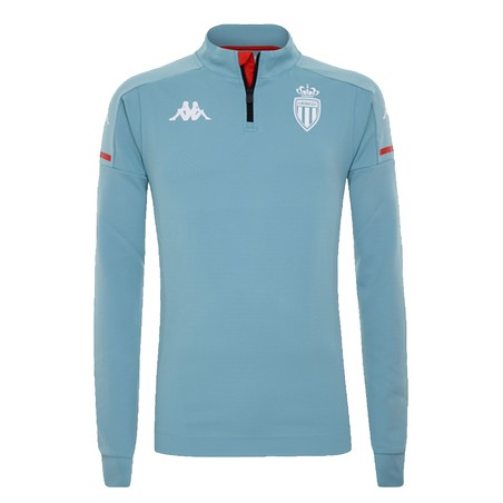 Sweat zippé AS Monaco bleu 2020/21