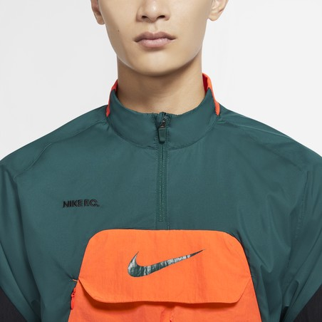 Anorak Nike F.C. vert orange