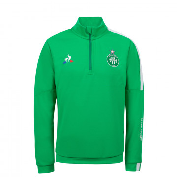 Sweat zippé junior ASSE vert 2020/21