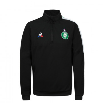 Sweat zippé junior ASSE noir 2020/21