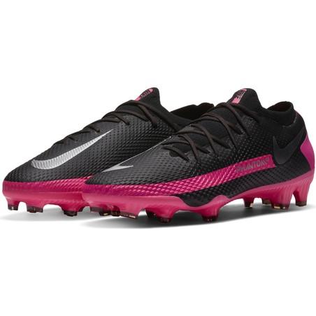 Nike Phantom GT Pro FG basse noir rose
