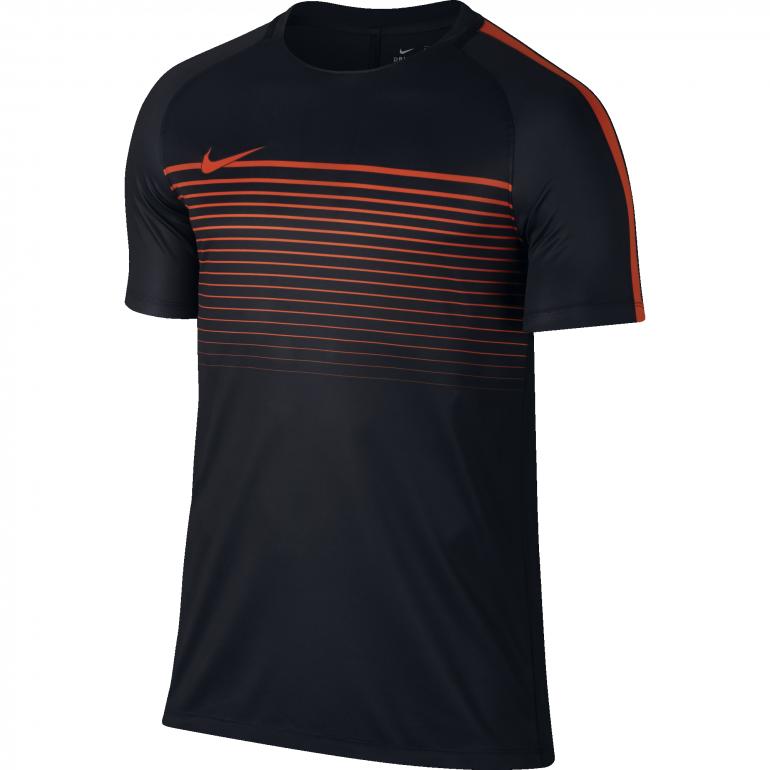 Maillot technique Nike noir et rouge