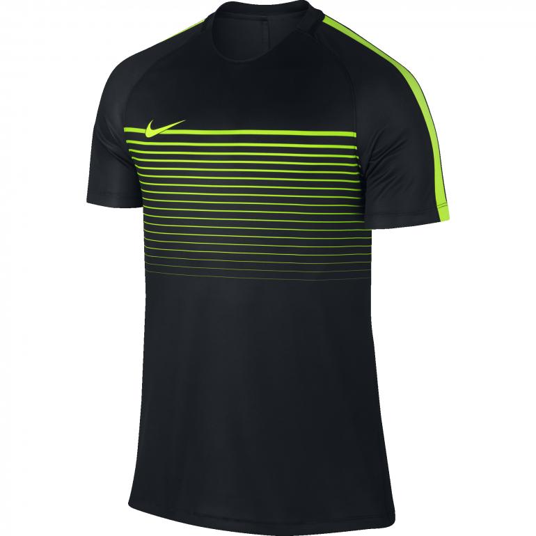 Maillot technique Nike noir et jaune