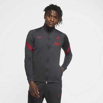 Veste survêtement Liverpool noir rouge 2020/21