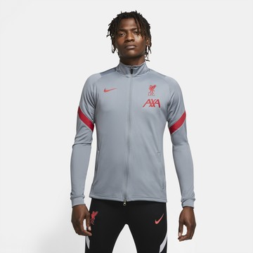 Veste survêtement Liverpool gris rouge 2020/21