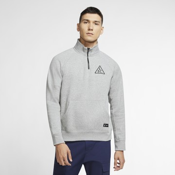Sweat zippé Liverpool gris 2020/21