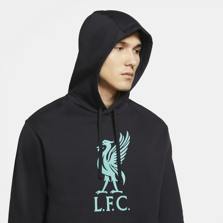 Sweat à capuche Liverpool noir bleu 2020/21