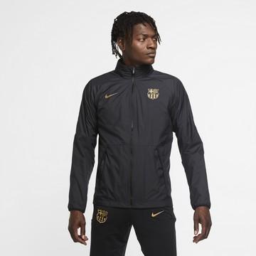 Veste imperméable FC Barcelone noir or 2020/21