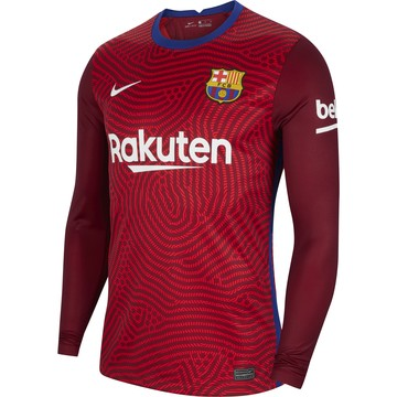 Maillot gardien manches longues FC Barcelone rouge 2020/21