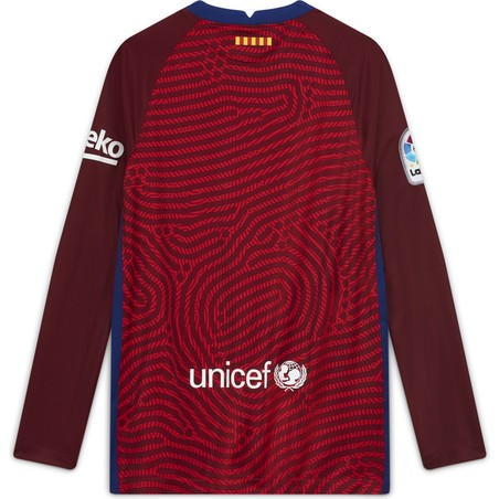 Maillot gardien junior manches longues FC Barcelone rouge 2020/21