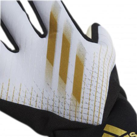 Gants gardien adidas X blanc or