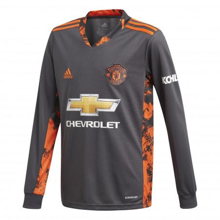 Maillot gardien junior Manchester United noir orange 2020/21