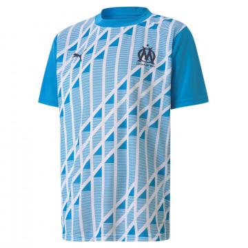 Maillot avant match junior OM bleu 2020/21