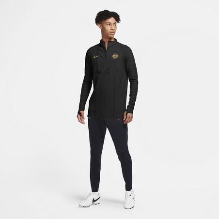 Sweat zippé PSG 50ème anniversaire VaporKnit noir or 2020/21