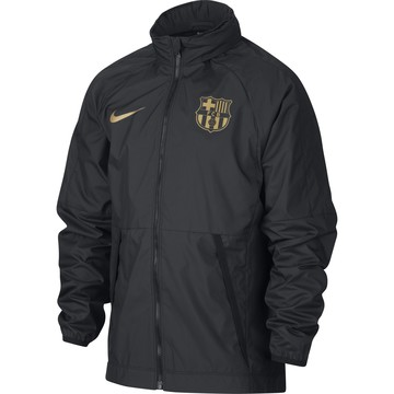 Veste imperméable junior FC Barcelone noir or 2020/1