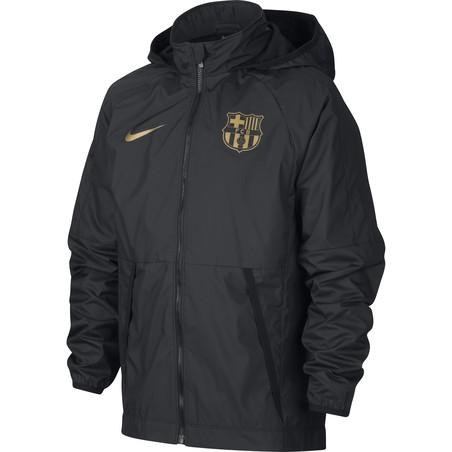 Veste imperméable junior FC Barcelone noir or 2020/1