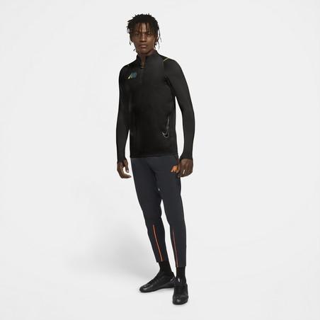Sweat zippé Nike Mercurial Strike noir jaune