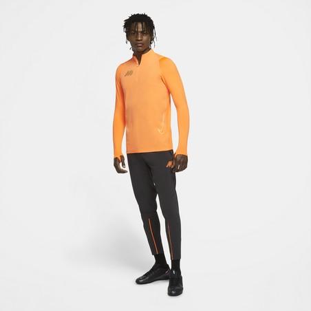 Sweat zippé Nike Mercurial Strike orange