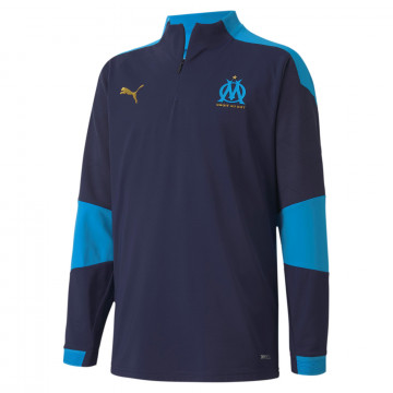 Sweat zippé junior OM bleu 2020/21