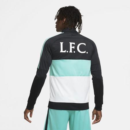 Veste survêtement Liverpool I96 Anthem noir bleu 2020/21