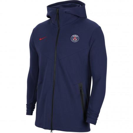 Veste survêtement junior PSG Tech Fleece bleu 2020/21