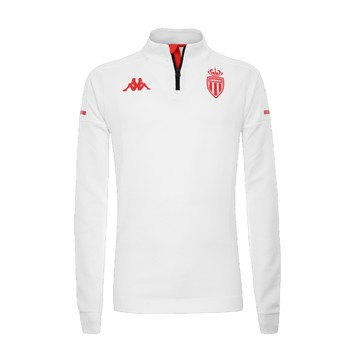 Sweat zippé AS Monaco blanc 2020/21