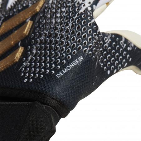 Gants gardien adidas Predator PRO Fingersave noir or
