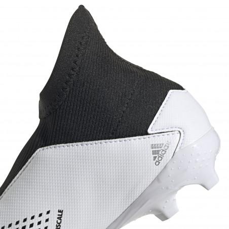 adidas Predator junior 20.3 LaceLess FG blanc noir
